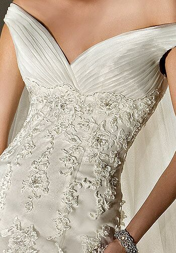 Demetrios 1425 Sheath Wedding Dress