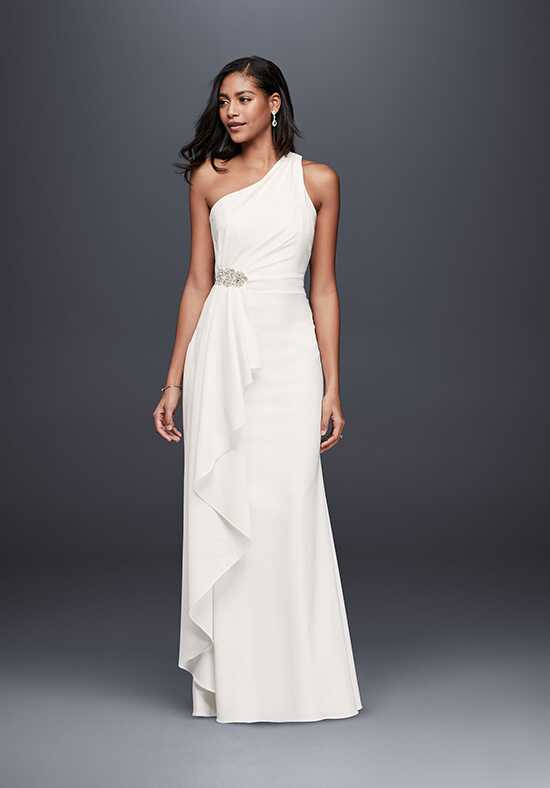 David's Bridal David's Bridal Collection Style SDWG0463DB Sheath Wedding Dress