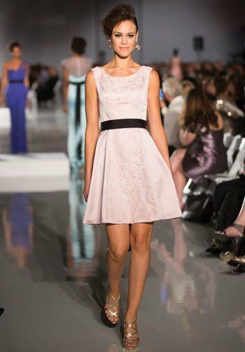 Badgley Mischka BM16 Bateau Bridesmaid Dress