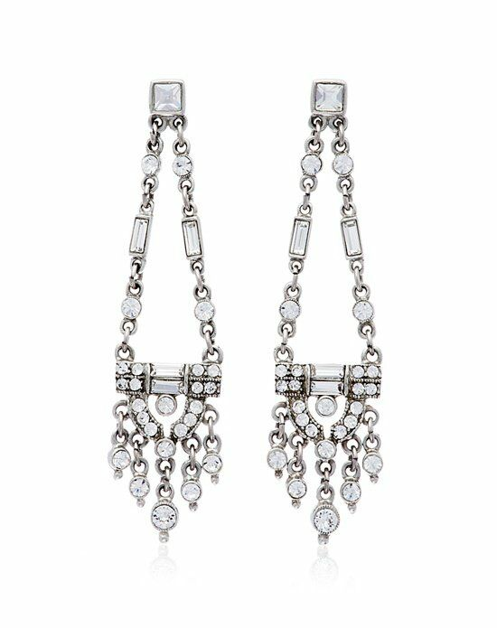 Thomas Laine Ben-Amun Open Deco Chandelier Earrings Wedding Earring photo