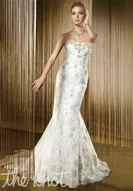 Demetrios 1408 Sheath Wedding Dress