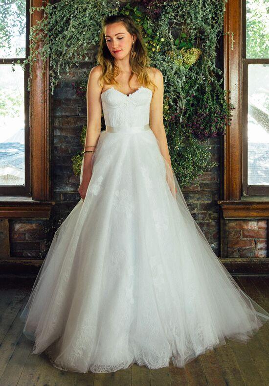 Lea Ann Belter Delilah Bustier Rose Skirt Ball Gown Wedding Dress
