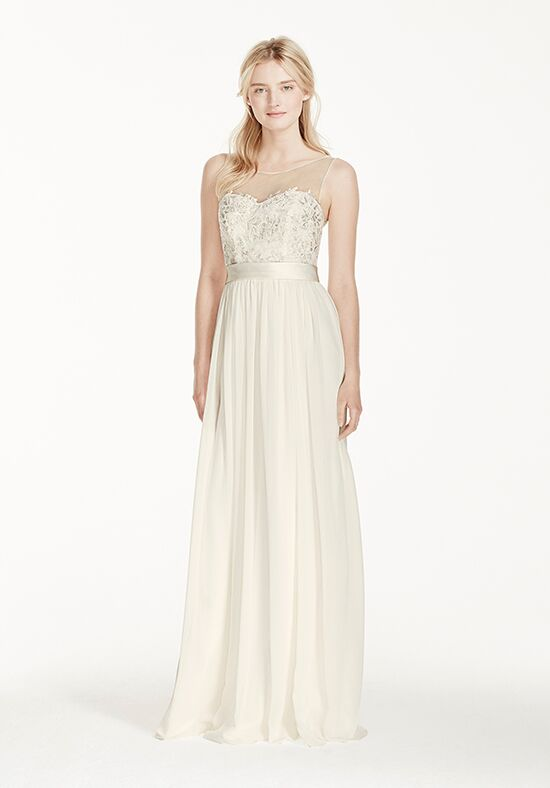 David's Bridal David's Bridal Collection Style MK3747 Sheath Wedding Dress