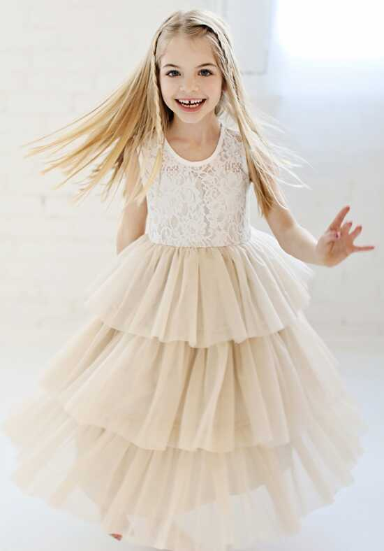 FATTIEPIE hazel Ivory Flower Girl Dress