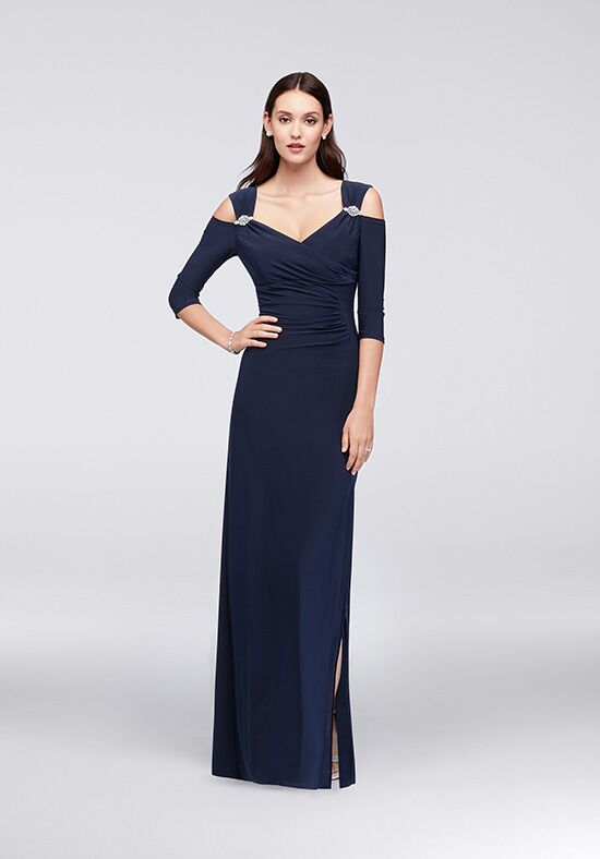 David's Bridal Mother of the Bride 8950DB Blue Mother Of The Bride Dress