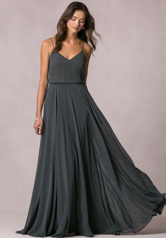 Jenny Yoo Collection (Maids) Inesse V-Neck Bridesmaid Dress