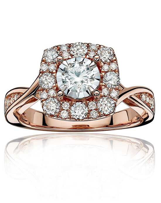 Rogers & Hollands® Unique Cushion, Round Cut Engagement Ring