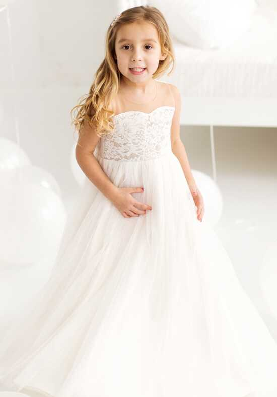FATTIEPIE penelope ivory Ivory Flower Girl Dress