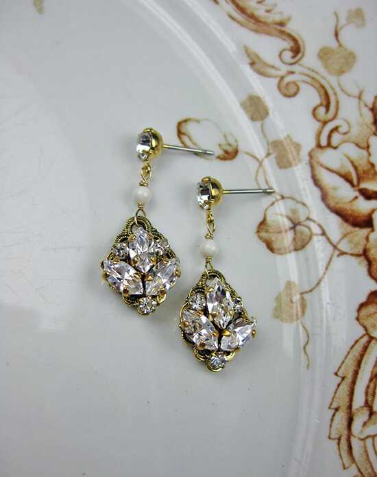 Everything Angelic Emma Earrings - e335 Antique Gold Wedding Earring photo