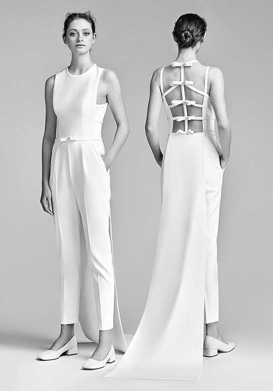 Viktor&Rolf Mariage Bow Back Jumpsuit Sheath Wedding Dress
