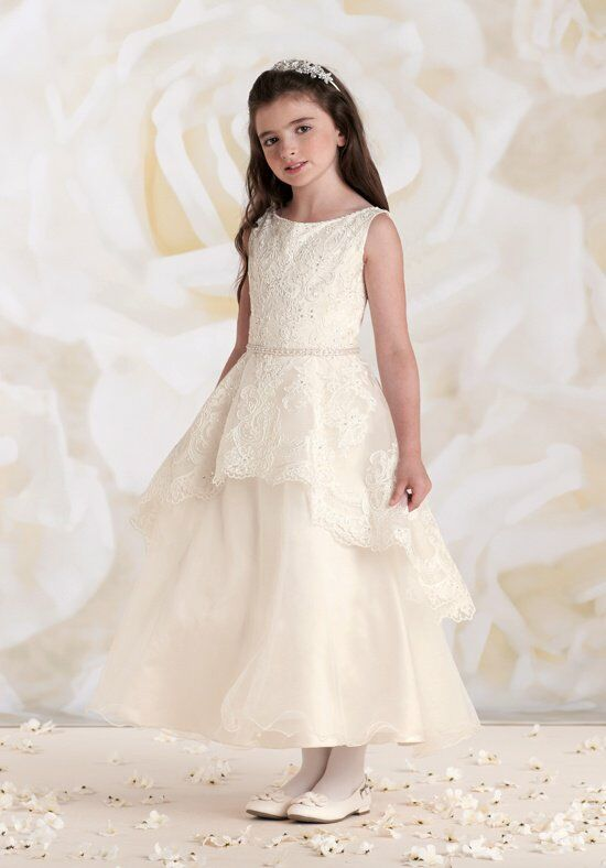 Joan Calabrese by Mon Cheri 115313 Pink Flower Girl Dress