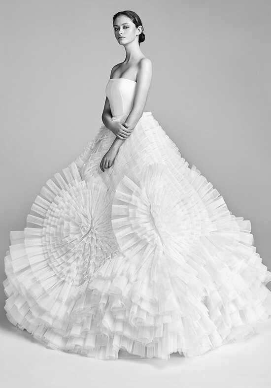 Viktor&Rolf Mariage Pleated Tulle Swirl Ball Gown Wedding Dress