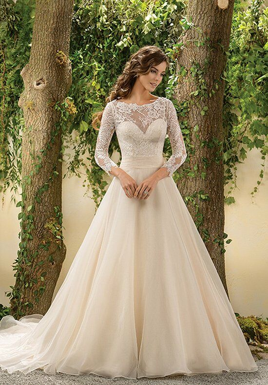 Jasmine collection f181005 wedding dress the knot for Jasmine collection wedding dress