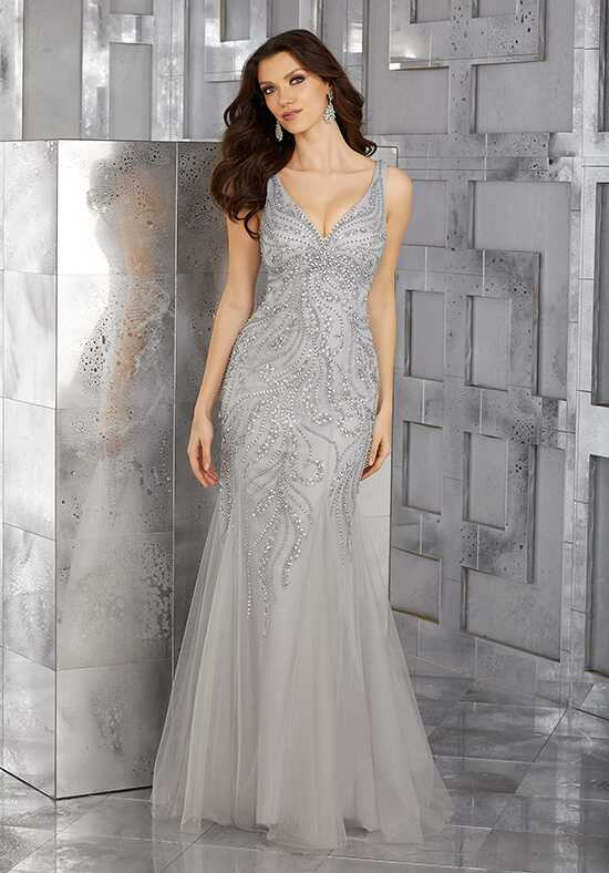 MGNY 71633 Blue Mother Of The Bride Dress