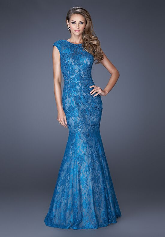 La Femme Evening 20427 Blue Mother Of The Bride Dress
