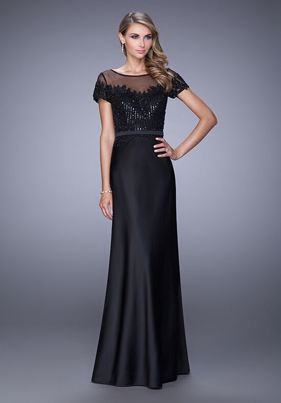 La Femme Evening 21662 Black Mother Of The Bride Dress