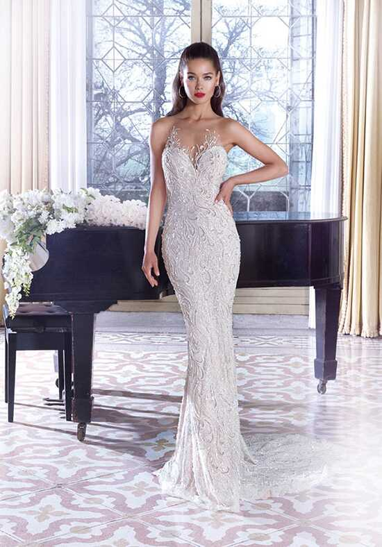 Platinum by Demetrios DP389 - Vivienne Sheath Wedding Dress