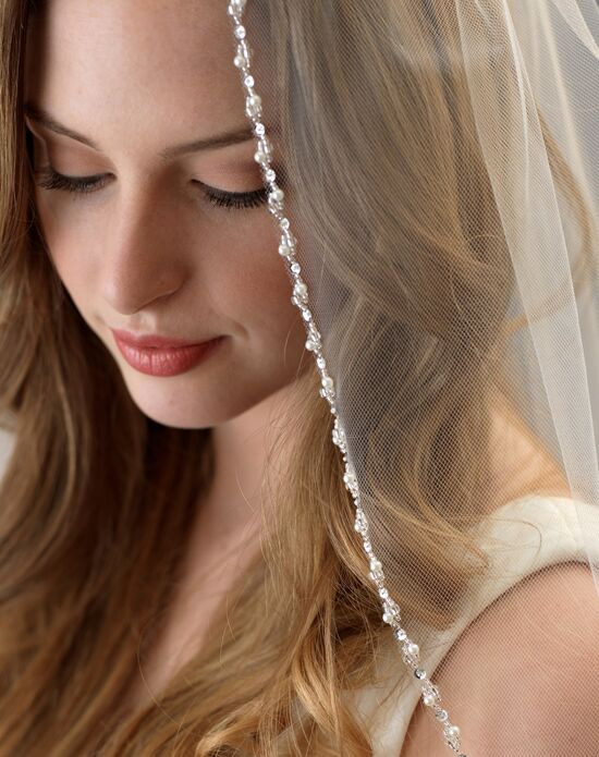 USABride Lily Pearl Beaded Bridal Veil (1 Layer) VB-5062 Veil