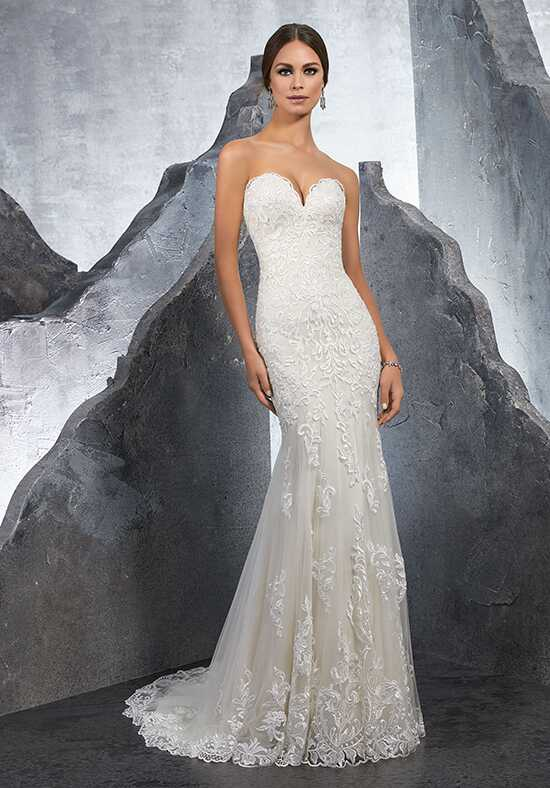 Morilee by Madeline Gardner/Blu Kirstie/ 5615 Sheath Wedding Dress