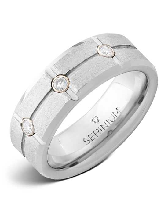 Serinium® Collection Diamond Grid — Stone Finish Serinium® Ring-RMSA006021 Serinium® Wedding Ring