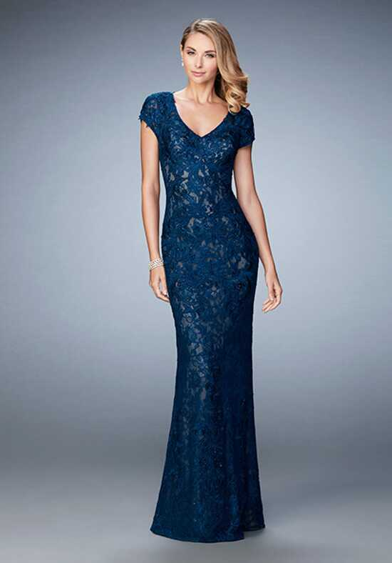 La Femme Evening 23071 Blue Mother Of The Bride Dress