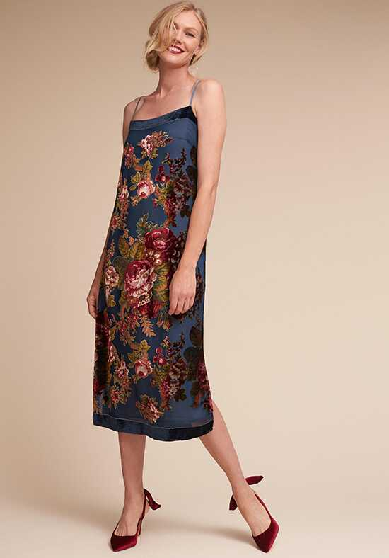 BHLDN (Mother of the Bride) Carlson Burnout Velvet Dress Blue Mother Of The Bride Dress
