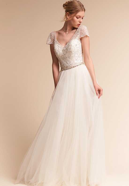 BHLDN Brio Bodysuit & Delphi Skirt A-Line Wedding Dress