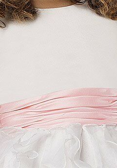 Sweet Beginnings L303 Pink Flower Girl Dress