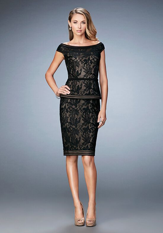 La Femme Evening 23080 Black Mother Of The Bride Dress