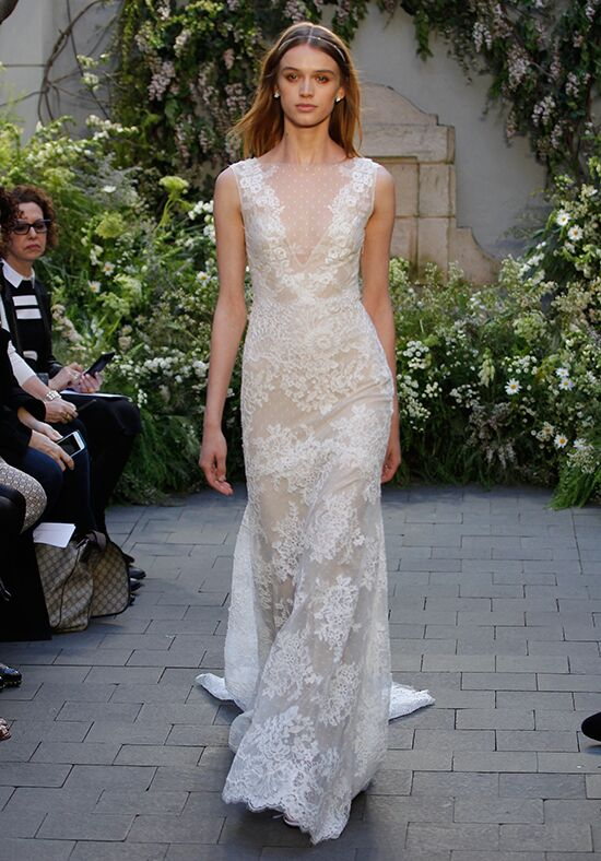 Monique lhuillier summer wedding dress the knot monique lhuillier summer sheath wedding dress junglespirit Choice Image