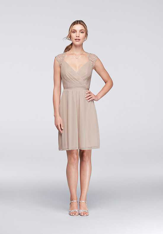 David's Bridal Collection David's Bridal Style F19442 V-Neck Bridesmaid Dress