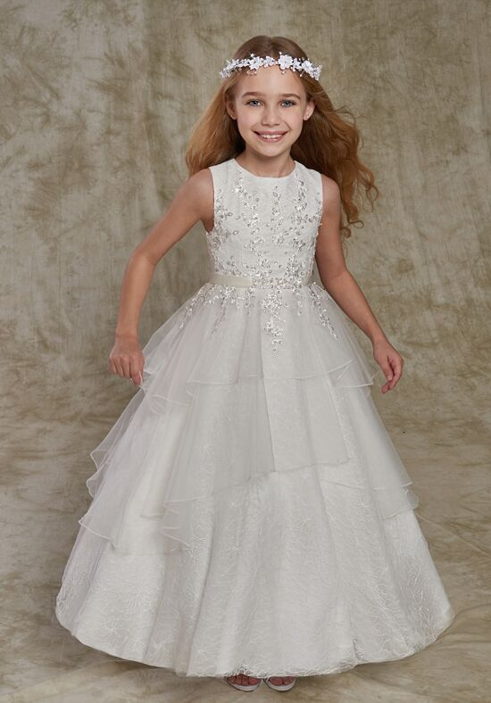 Cupids by Mary's F540 Ivory Flower Girl Dress