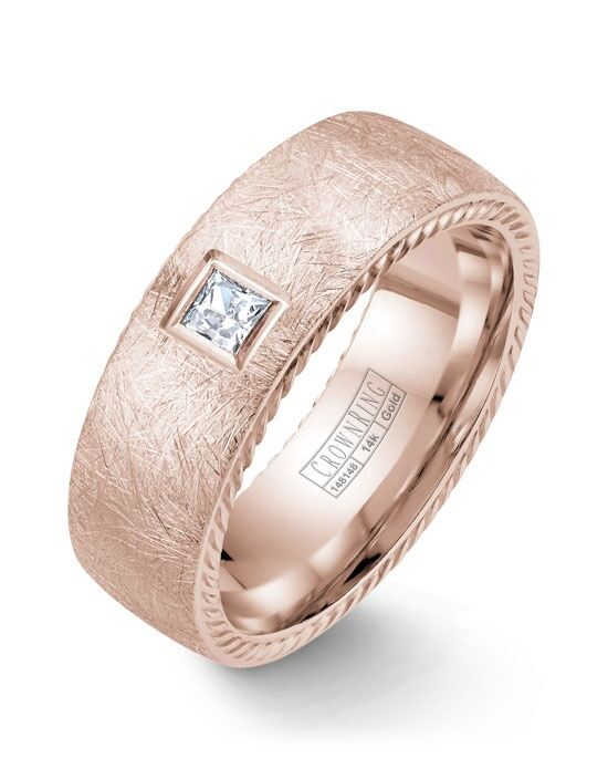 CrownRing WB-013RD8R-M10 Rose Gold Wedding Ring