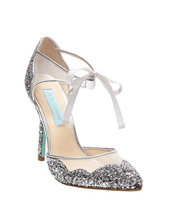 Betsey Johnson Blue Bridal Shoes