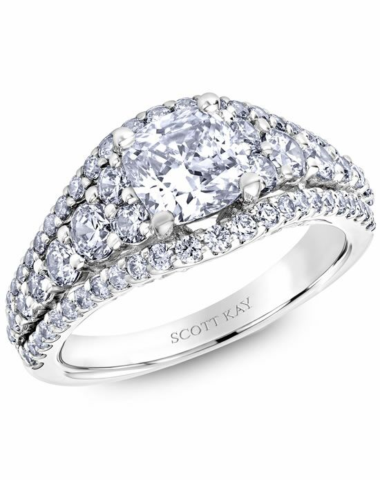 Scott Kay Cushion Cut Engagement Ring