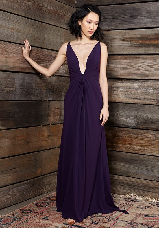 Ivy & Aster Bridesmaids Violet V-Neck Bridesmaid Dress
