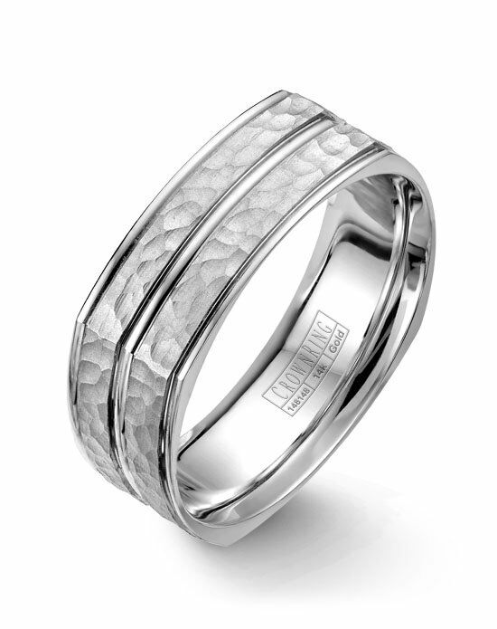 CrownRing WB-7911-M10 White Gold Wedding Ring