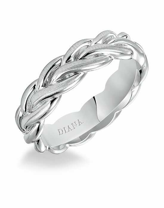 Diana 11-N87W6-G Platinum, White Gold Wedding Ring