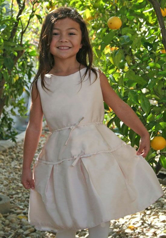 Isabel Garretón Treasure Pink Flower Girl Dress