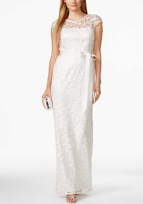 Adrianna Papell Wedding Dresses Adrianna Papell Cap-Sleeve Illusion lace Gown A-Line Wedding Dress
