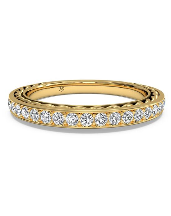 Ritani Women's Micropave Diamond Braided Wedding Ring - in 18kt Yellow Gold - (0.32 CTW) Gold Wedding Ring