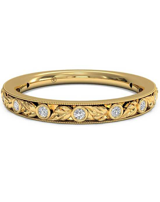 Ritani Women's Hand-Carved Grecian Diamond Wedding Band - in 18kt Yellow Gold - (0.09 CTW) Gold Wedding Ring