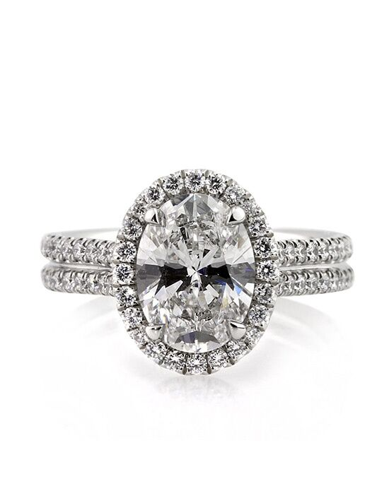 Mark Broumand Elegant Oval Cut Engagement Ring