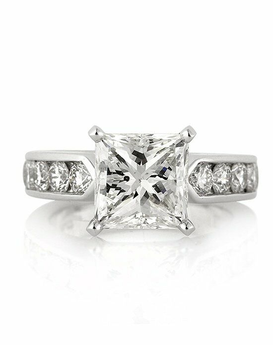 Mark Broumand Classic Princess Cut Engagement Ring
