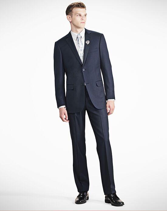 Generation Tux Notch Lapel Modern Fit Navy Blue Suit Wedding ...