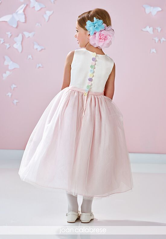 Joan Calabrese by Mon Cheri 117357 Pink Flower Girl Dress