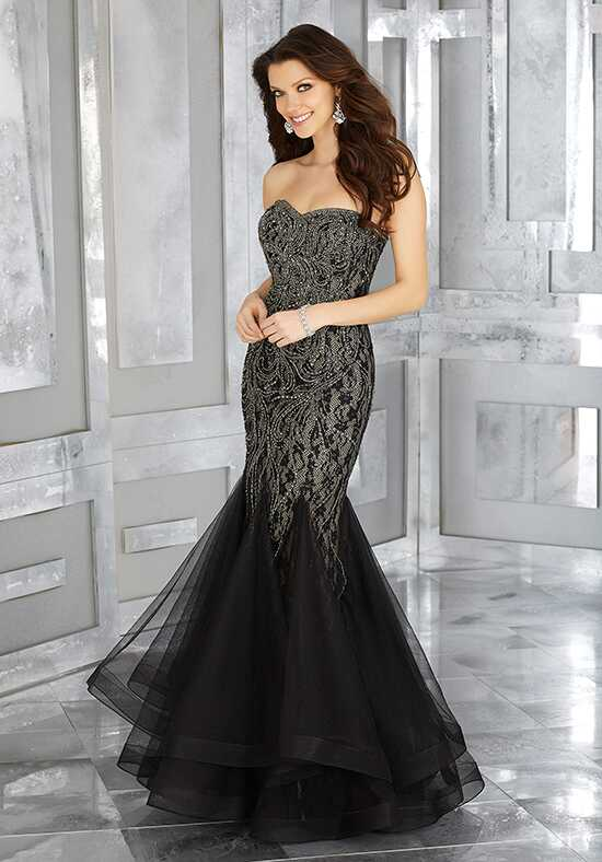 MGNY 71636 Black Mother Of The Bride Dress