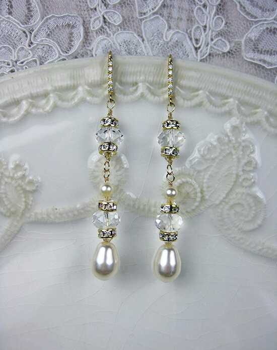 Everything Angelic Ingrid Earrings - e316 Gold Wedding Earring photo