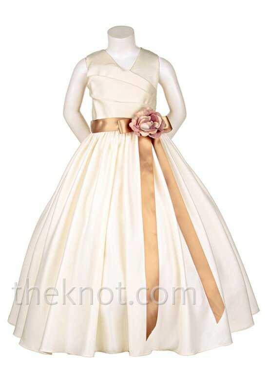 Pink Princess D2900 Brown Flower Girl Dress