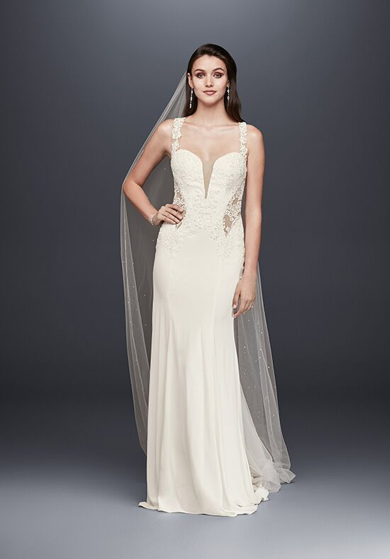Davids bridal galina signature style swg725 wedding dress the knot davids bridal galina signature style swg725 sheath wedding dress junglespirit Gallery
